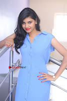 Telugu Actress Mounika UHD Stills in Blue Short Dress at Tik Tak Telugu Movie Audio Launch .COM 0252.JPG