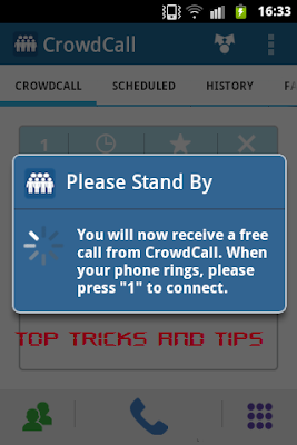 Top Tricks And Tips : CrowdCall in Progress