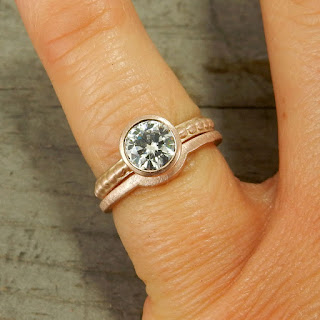 moissanite rose gold wedding rings