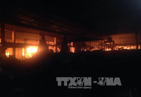 Cháy chợ Nghĩa Kỳ Quảng Ngãi gây thiệt hại hàng trăm triệu đồng
