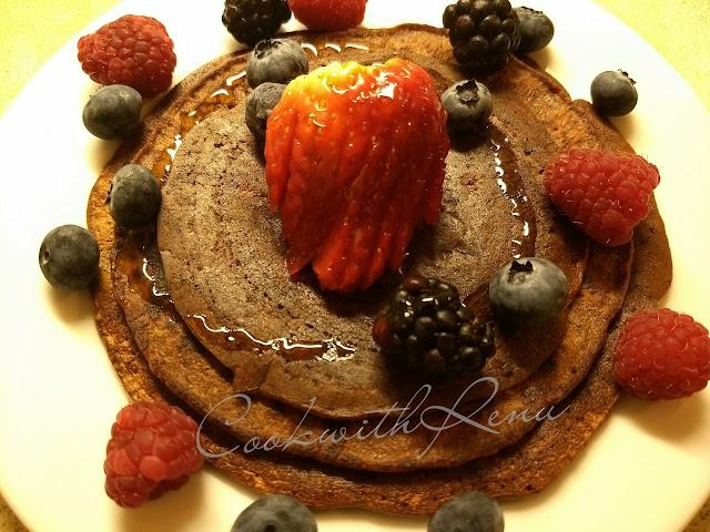 Whole Wheat Chocolate Banana Pan Cake