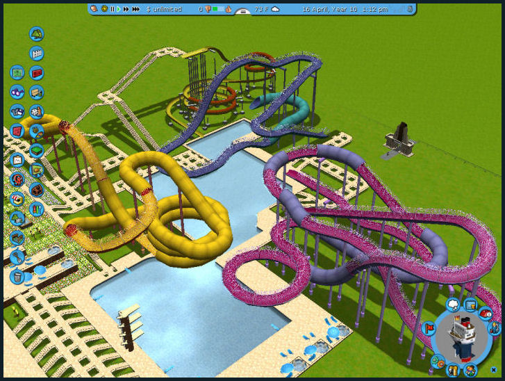 Roller Coaster Tycoon 3 Downloads: RCT3 Pool - Extreme Pool and