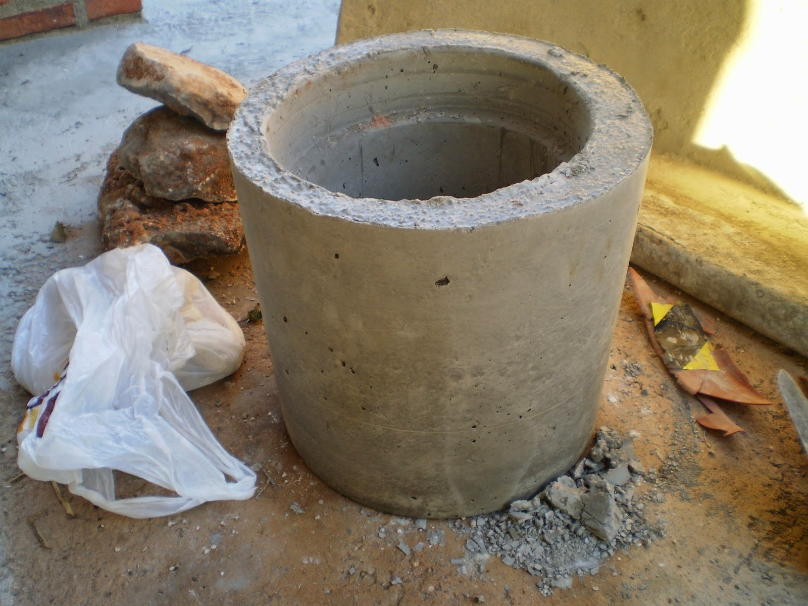 El blog de la elena un blog dulce divertido y - Maceta de cemento ...