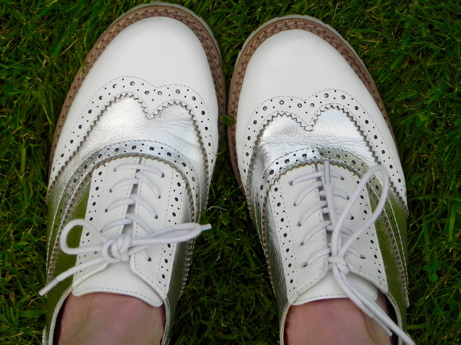 What and silver brogues