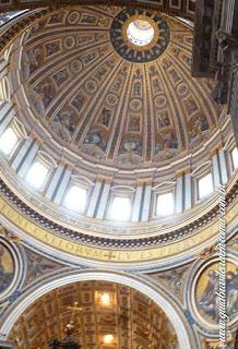 cupola interior sao pedro city tour guia brasileira - Cinco cúpolas de Roma e uma não cupola!