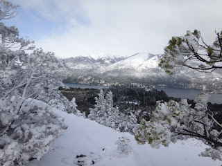 Paisagem do topo do Cerro Campanario em Bariloche