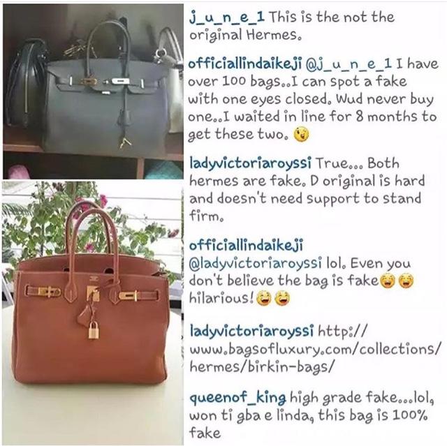 hermes birkin handbags price - Linda Ikeji war with fans who say her $8k Hermes bag is Fake ...