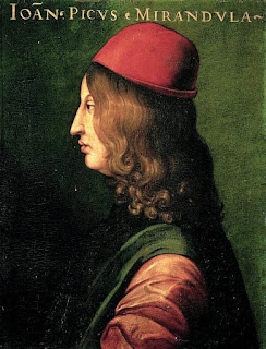 Giovanni Pico della Mirandola: this portrait by Cristofano dell'Altissimo hangs in the Uffizi