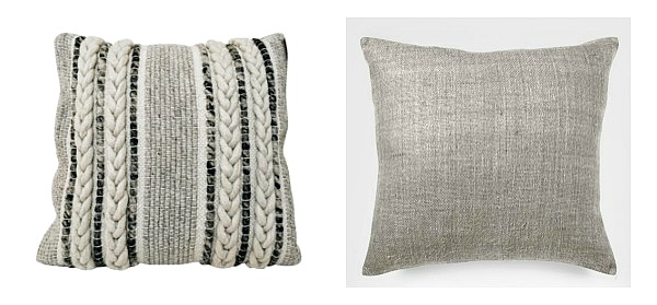 Pattern + Solid pillow combination
