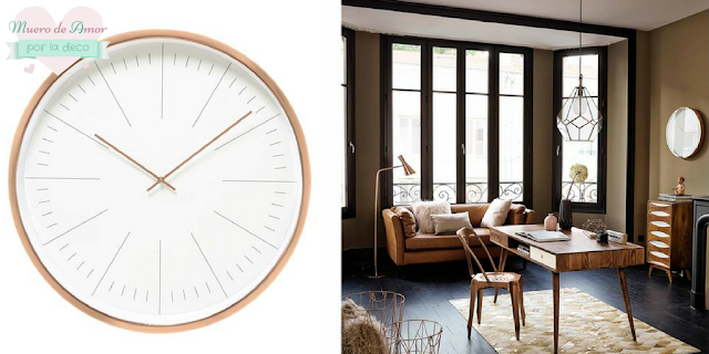 Decoracion en color cobre-Reloj