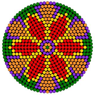 Hama bead rangoli design