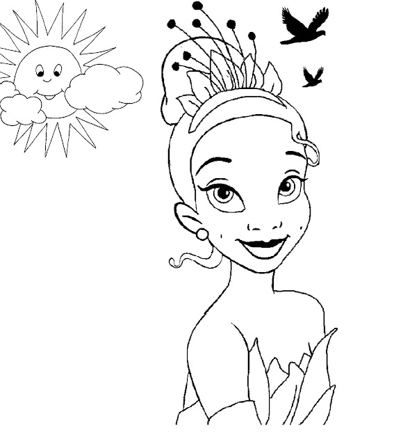 Disney Princess Tiana Coloring Pages To Girls Throughout Princess Tiana Coloring  Pages
