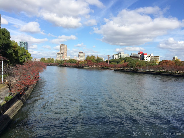 Fig 2 : Overlooking the Okawa River