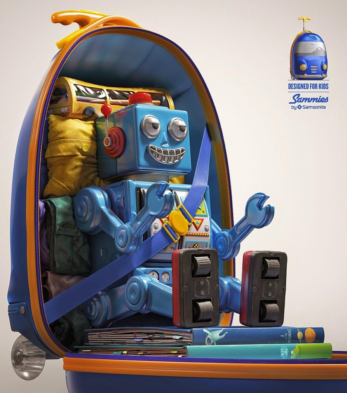 maleta para niños de Samsonite.