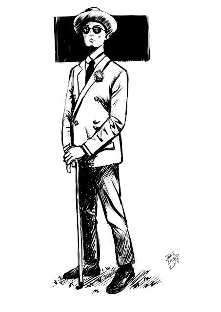 Dibujo en blanco y negro