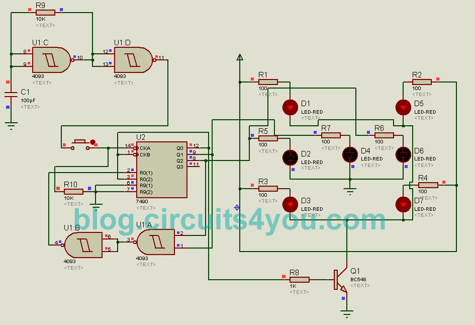 diy electronic dice | circuits4you.com holding with a circuit wiring diagrams #12