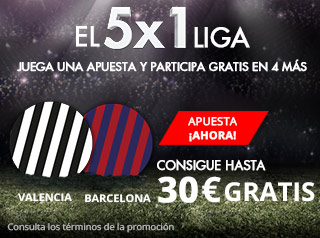 suertia promocion Valencia vs Barcelona 26 noviembre
