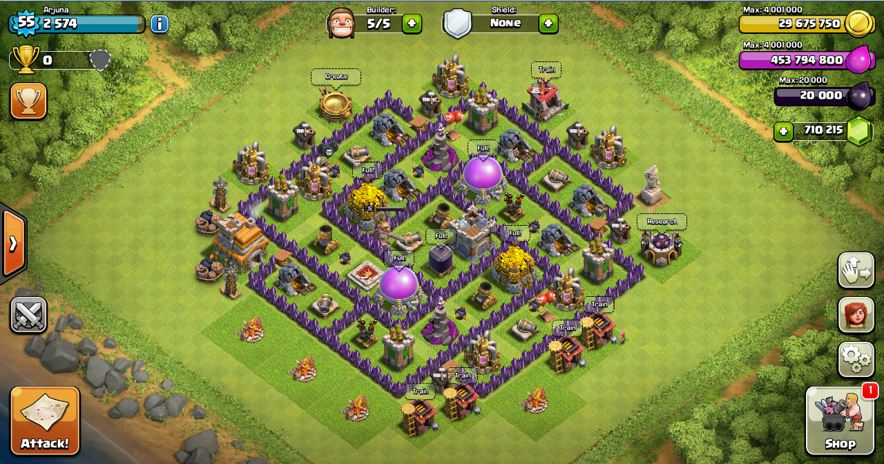 Design farming base clash of clans th 7 design base clash of clans