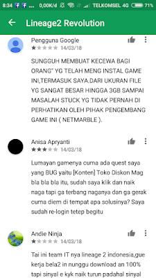 Tanggapan pengguna di Playstore (3)