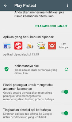 Google Play Protect Status