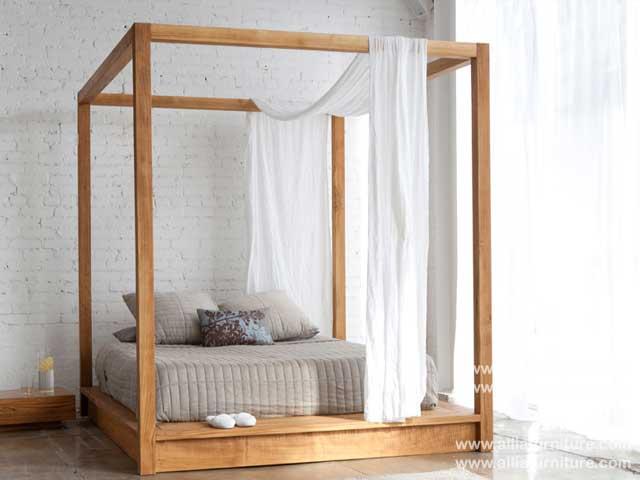 tempat tidur minimalis kanopi karibia