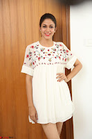 Lavanya Tripathi in Summer Style Spicy Short White Dress at her Interview  Exclusive 262.JPG