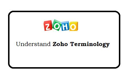 Zoho terminology