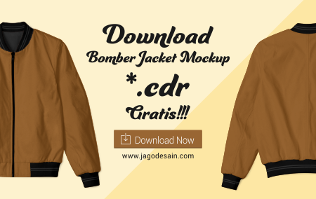 Download Mockup Bomber Jacket File .CDR Gratis
