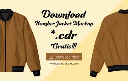 Download Mockup Bomber Jacket File .CDR Gratis