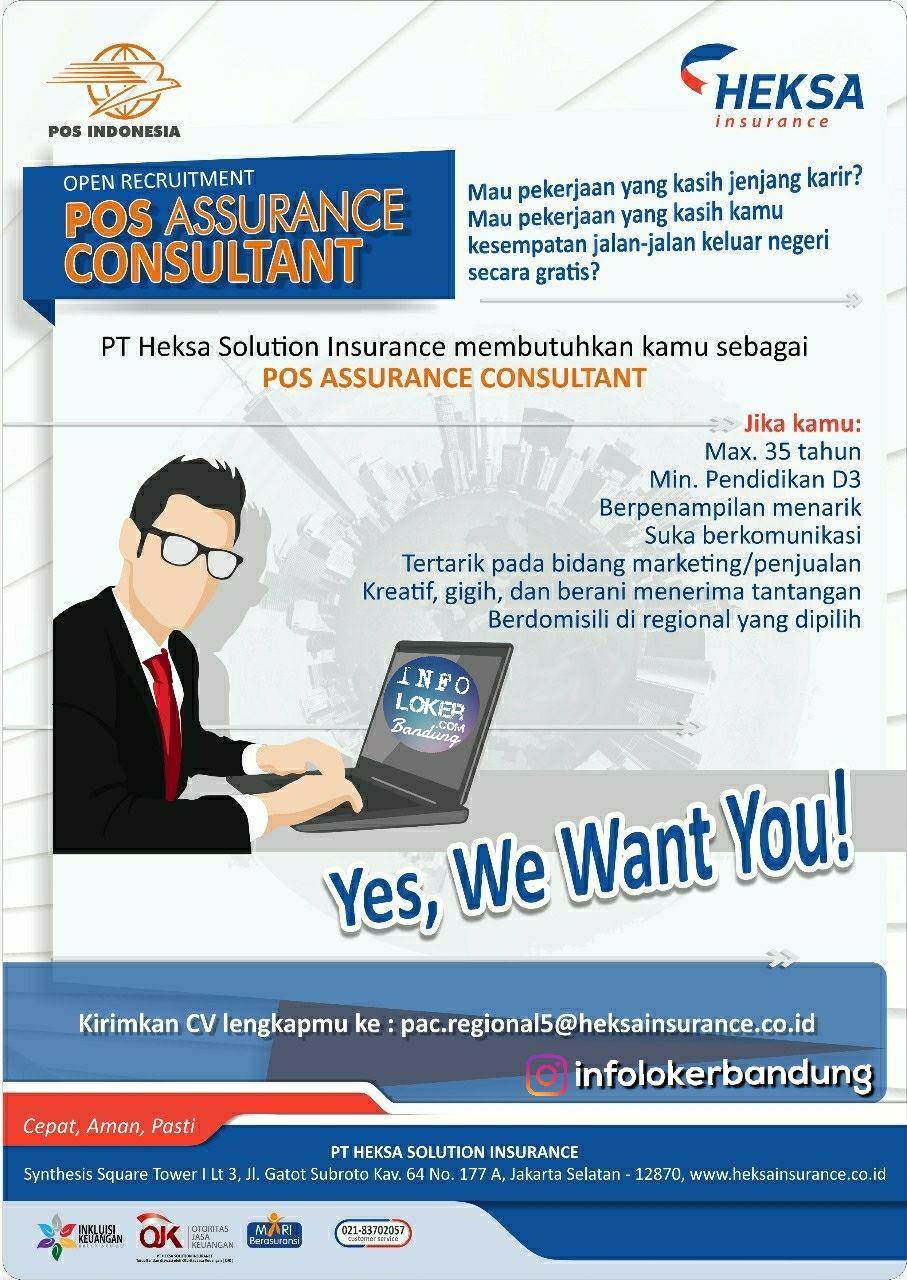 Lowongan Kerja PT. Heksa Solution Insurance Bandung Juli 2018 - infolokerbandung.com