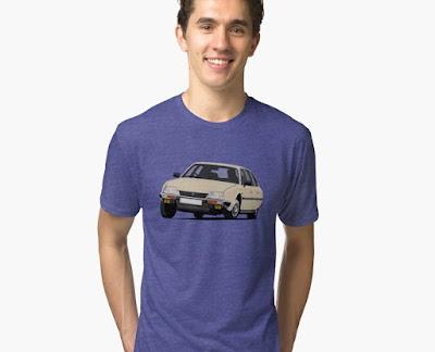 Kurvaava Citroen CX t-paidat