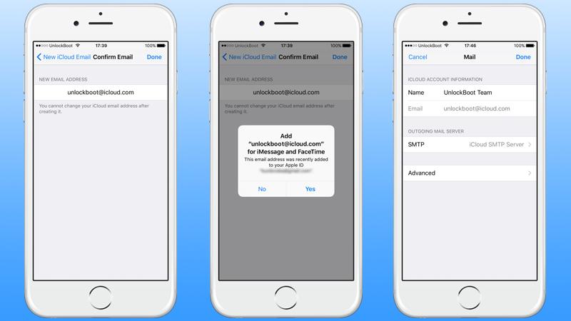 Create free iCloud email