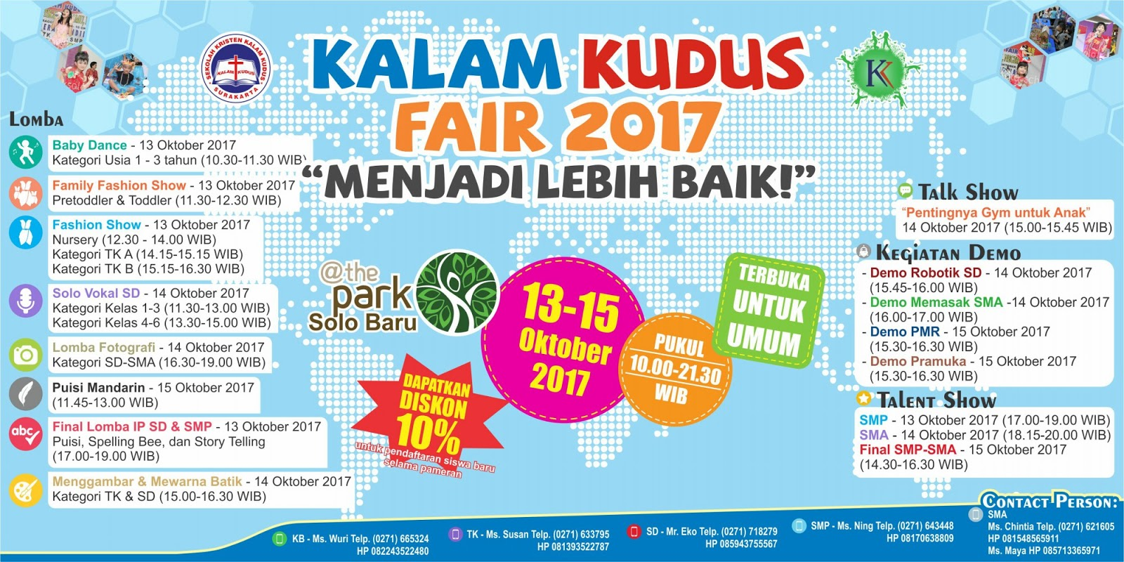 SKKK Surakarta Gelar Kalam Kudus Fair 2017 di The Park Mall