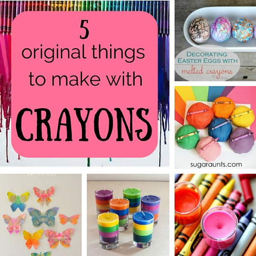 5 original things to make with crayons
