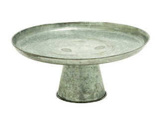 Farmhouse Style Galvanized Platter Stand, Chic on a Shoestring Decorating
