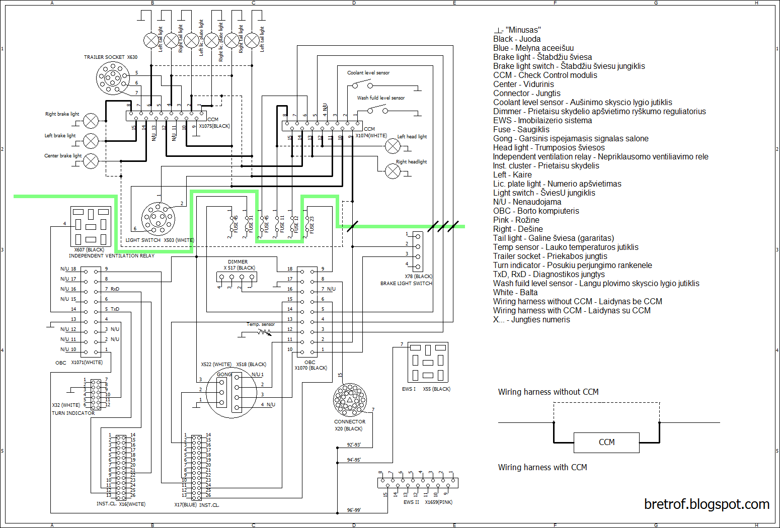 2011 bmw 328i fuse box diagram