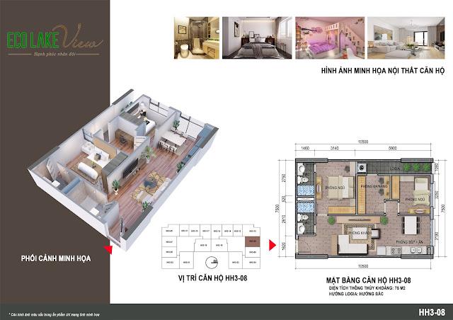 Thiết kế căn hộ số 08 tòa HH03