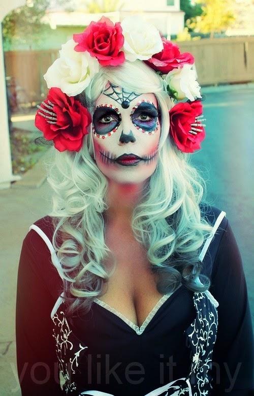 You Like It My...: Homemade Halloween Makeup Like Sugar Skull