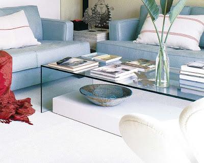 Decoracion con cristal para salas