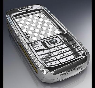 Teléfono celular exótico y diferente