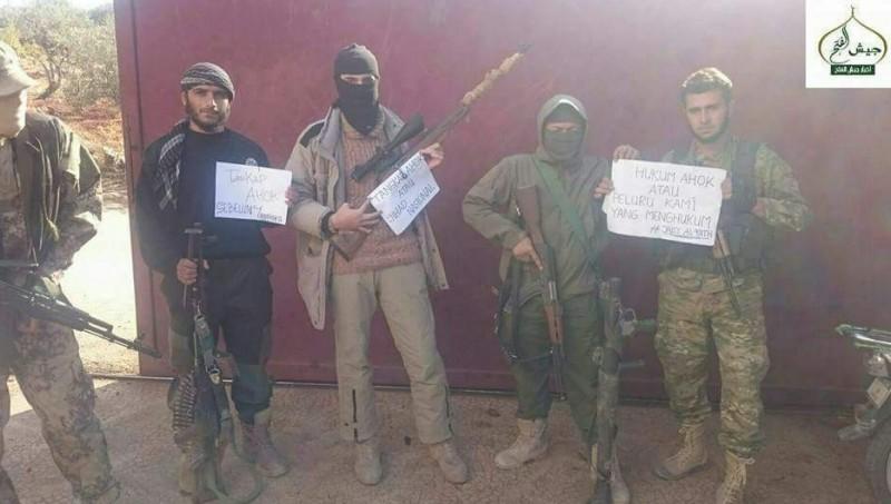 Mereka bukan ISIS tetapi dari Jays Fath sayap bersenjata Jabhat Fath Sham