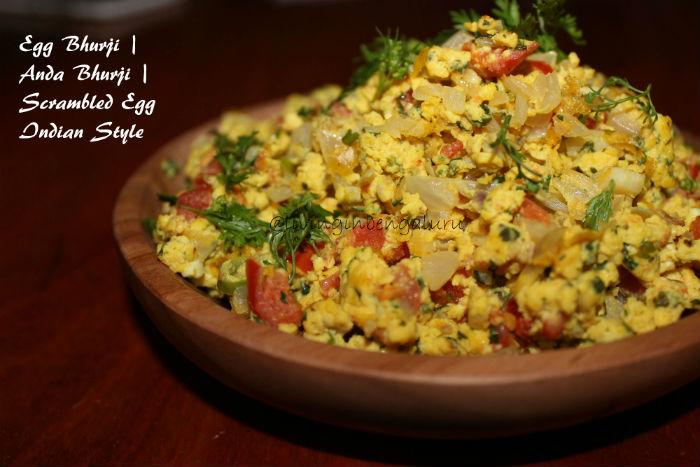 Scrambled Egg Indian Style