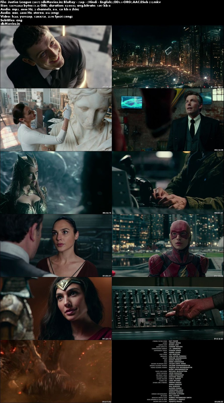 Screen Shots Justice League 2017 Full Movie Download Dual Audio Hindi 720p