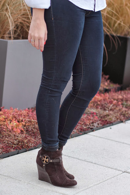 tory burch, logo booties