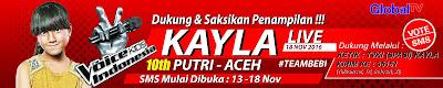Desain Spanduk The Voice kids Indonesia Kayla
