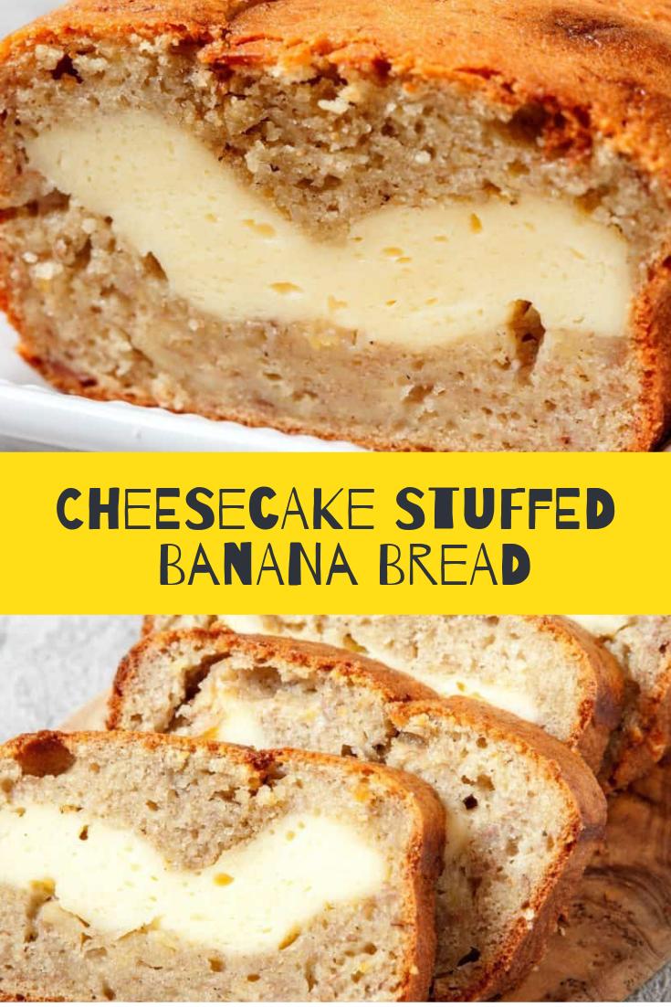 Cheesecake Stuffed Banana Bread Recipe