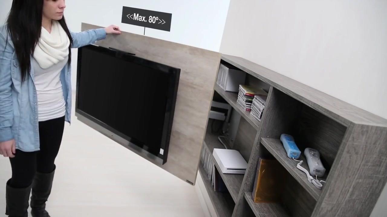 Dise o de muebles para tv giratorio de melamina web del for Diseno de muebles para herramientas