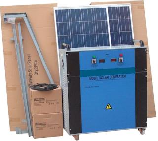 mobil solar konut evi paketi