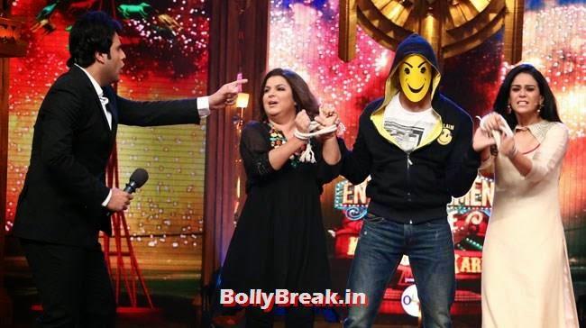 Krishna, Farah Khan, Sidharth Malhotra and Mona Singh, Shraddha, Sidharth promote Ek Villain on Entertainment Ke Liye Kuch Bhi Karega