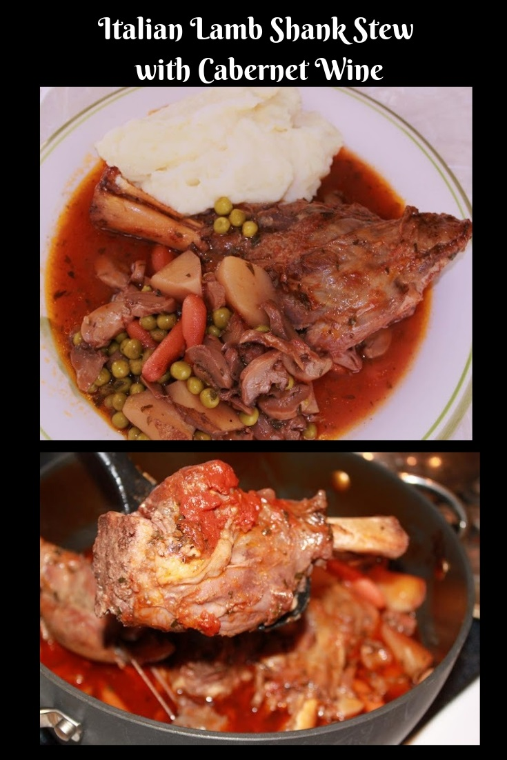 this is the best lamb shank stew with vegetables in a Cabernet Sauce you will ever eat!